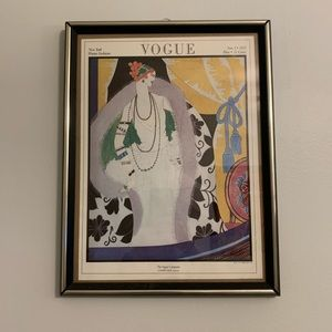 Vintage Vogue Magazine Cover Poster November 1923